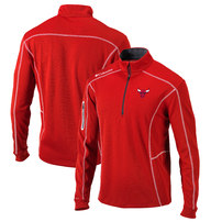 Chicago Bulls Columbia Omni-Wick Shotgun Quarter-Zip Pullover Jacket – Red