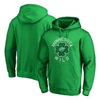 Minnesota Wild Fanatics Branded St. Patrick's Day Luck Tradition Pullover Hoodie – Kelly Green