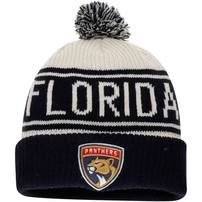 Florida Panthers Fanatics Branded True Classic Z Route Cuffed Knit Hat with Pom – White