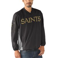 New Orleans Saints G-III Sports by Carl Banks Gridiron V-Neck Pullover Sweatshirt - Black
