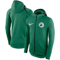 Boston Celtics Nike Showtime Therma Flex Performance Full-Zip Hoodie – Kelly Green