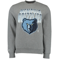 Memphis Grizzlies Mitchell & Ness Block and Blur Crew Fleece Sweatshirt - Gray