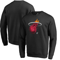 Miami Heat Fanatics Branded Midnight Mascot Pullover Sweatshirt - Black