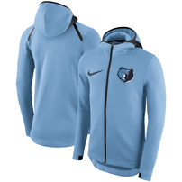 Memphis Grizzlies Nike Showtime Therma Flex Performance Full-Zip Hoodie – Light Blue