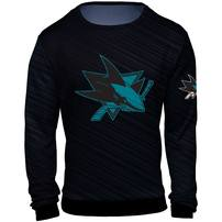 San Jose Sharks Static Rain Printed Sweater - Black