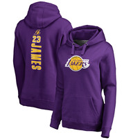 LeBron James Los Angeles Lakers Fanatics Branded Women's Plus Size Backer Pullover Hoodie – Purple