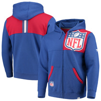 NFL Shield NFL Pro Line by Fanatics Branded Iconic Bold Full-Zip Hoodie - Royal/Red