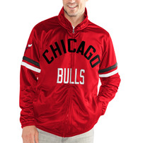 Chicago Bulls G-III Sports by Carl Banks Veteran Tricot Full-Zip Track Jacket - Red