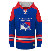 New York Rangers Youth Legendary Pullover Hoodie - Blue