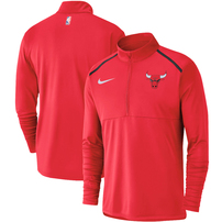 Chicago Bulls Nike Element Performance Half-Zip Pullover Jacket - Red