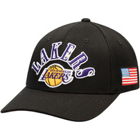 Los Angeles Lakers Mitchell & Ness Definitive Adjustable Snapback Hat – Black
