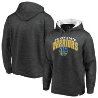 Golden State Warriors Fanatics Branded Steady Team Pullover Hoodie – Gray/White