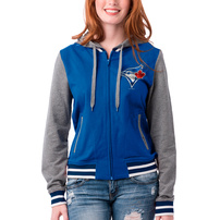 Toronto Blue Jays 5th & Ocean by New Era Women's French Terry Full-Zip Hoodie – Royal