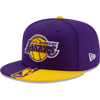 Los Angeles Lakers New Era Team Disturbance 59FIFTY Fitted Hat - Purple