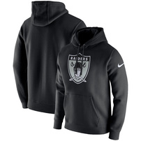 Oakland Raiders Nike Fan Gear Club Throwback Pullover Hoodie – Black
