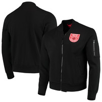 Chicago Bulls Sportiqe Maverick Fleece Bomber Full-Zip Jacket – Black
