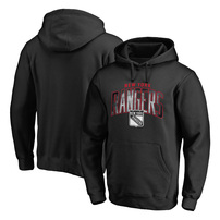 New York Rangers Fanatics Branded Arch Smoke Pullover Hoodie – Black