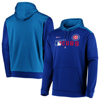 Chicago Cubs Majestic Big & Tall Authentic Collection Players Pullover Hoodie – Royal
