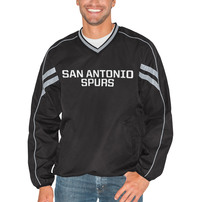San Antonio Spurs G-III Sports by Carl Banks Red Zone Wordmark V-Neck Pullover Jacket - Black