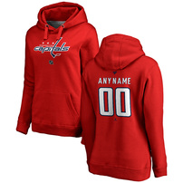 Washington Capitals Fanatics Branded Women's Personalized Team Authentic Pullover Hoodie – Red