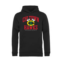 Chicago Blackhawks Youth Hometown Collection Chi Town Hawks Pullover Hoodie - Black