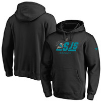 San Jose Sharks Fanatics Branded Authentic Pro Tri-Code Pullover Hoodie – Black