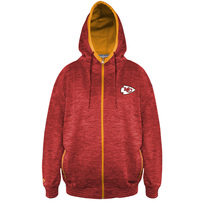 Kansas City Chiefs Majestic Big & Tall Space Dye Full-Zip Hoodie – Red