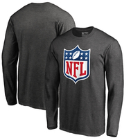 NFL Pro Line by Fanatics Branded NFL Shield Primary Logo Long Sleeve T-Shirt – Heathered Charcoal