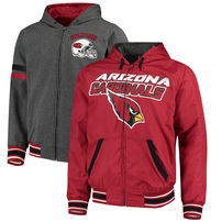 Arizona Cardinals G-III Extreme Hot Shot Reversible Full-Zip Hoodie – Cardinal/Charcoal