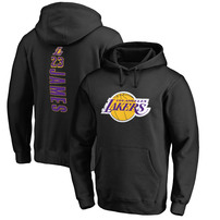 LeBron James Los Angeles Lakers Fanatics Branded Backer Pullover Hoodie – Black