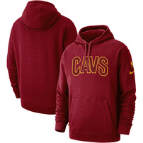 Cleveland Cavaliers Nike Courtside French Terry Pullover Hoodie – Wine