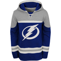 Tampa Bay Lightning Youth Asset Lace-Up Pullover Hoodie – Blue