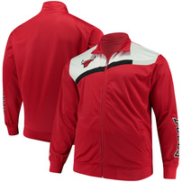 Chicago Bulls Majestic Tricot Full-Zip Track Jacket – Red/White