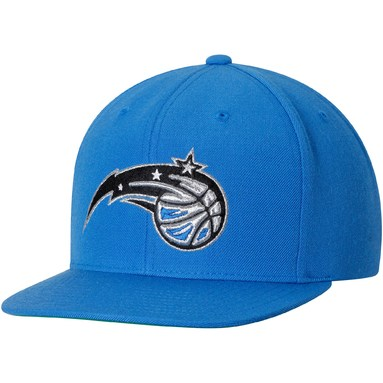 Orlando Magic Mitchell & Ness Current Logo Wool Solid Snapback Adjustable Hat - Blue