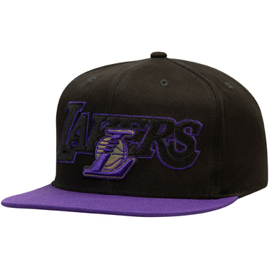 Los Angeles Lakers Mitchell & Ness Woodland Covert II Adjustable Snapback Hat – Black/Purple