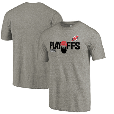 New Jersey Devils Fanatics Branded 2018 Stanley Cup Playoffs Bound Team Favorite Tri-blend T-Shirt – Heather Gray