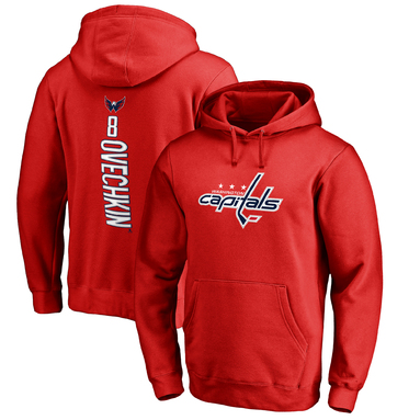 Alexander Ovechkin Washington Capitals Fanatics Branded Backer Pullover Hoodie - Red