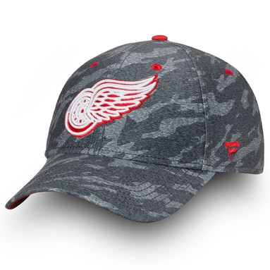 Detroit Red Wings Fanatics Branded Made2Move Camo Flex Hat - Gray