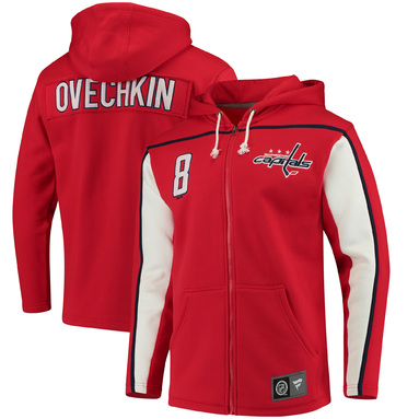 Alexander Ovechkin Washington Capitals Fanatics Branded Breakaway Full-Zip Hoodie - Red