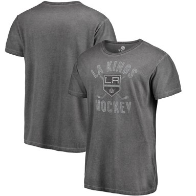 Los Angeles Kings Fanatics Branded Shadow Washed Icon T-Shirt - Black