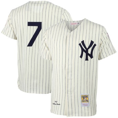 Mickey Mantle New York Yankees Mitchell & Ness MLB Authentic Jersey - Cream
