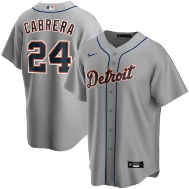 Miguel Cabrera Detroit Tigers Nike Road 2020 Replica Player Jersey – Gray