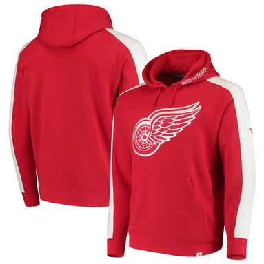 Detroit Red Wings Fanatics Branded Iconic Fleece Pullover Hoodie - Red/White