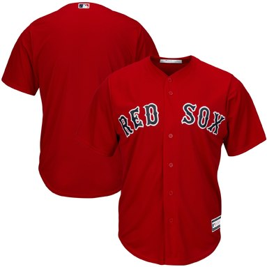 Boston Red Sox Big & Tall Replica Team Jersey – Red