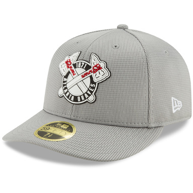 Atlanta Braves New Era Clubhouse Low Profile 59FIFTY Fitted Hat - Gray