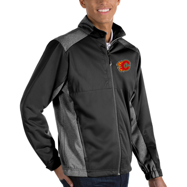 Calgary Flames Antigua Revolve Big & Tall Full-Zip Jacket - Black