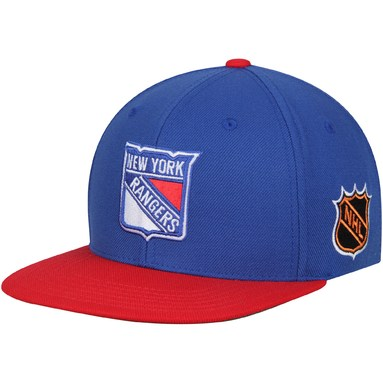 New York Rangers American Needle Blockhead Snapback Adjustable Hat - Blue/Red