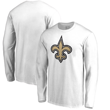 New Orleans Saints NFL Pro Line by Fanatics Branded Team Primary Logo Long Sleeve T-Shirt – White