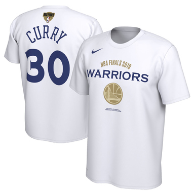 Stephen Curry Golden State Warriors Nike 2019 NBA Finals Bound Name & Number T-Shirt - White