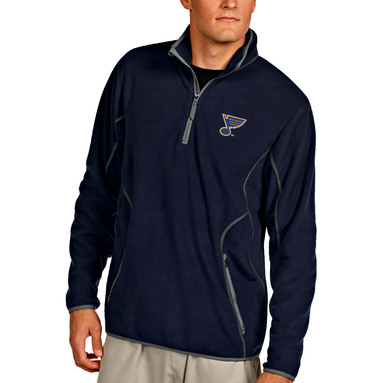 St. Louis Blues Antigua Ice Pullover 1/4-Zip Jacket - Navy